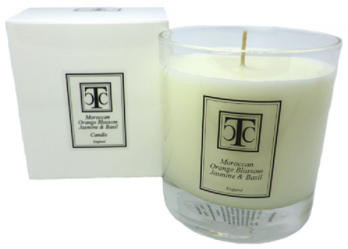 Moroccan Orange Blossom Jasmine & Basil Scented Candle 60 hour